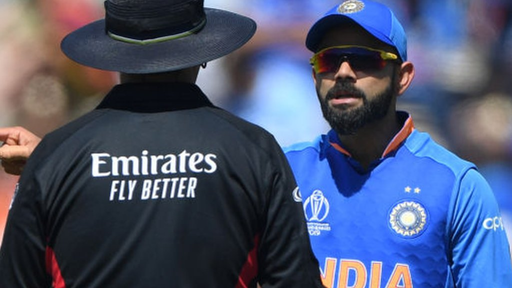 India's Virat Kohli fined for 'excessive appealing' at Cricket World Cup