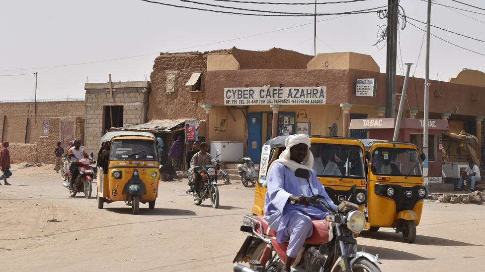 Cyber cafe in Agadez