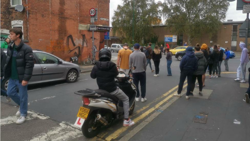 Crowds coming to see Banksy artwork on Saturday
