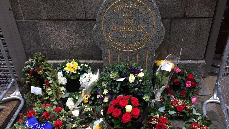 A memorial to Jim Morrison
