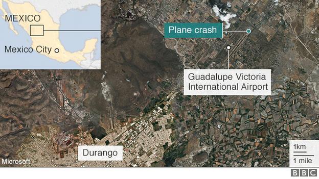 Map of plane crash site