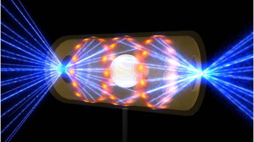 Hohlram adı verilen kapsüldeki hidrojen yakıtını gösteren çizim