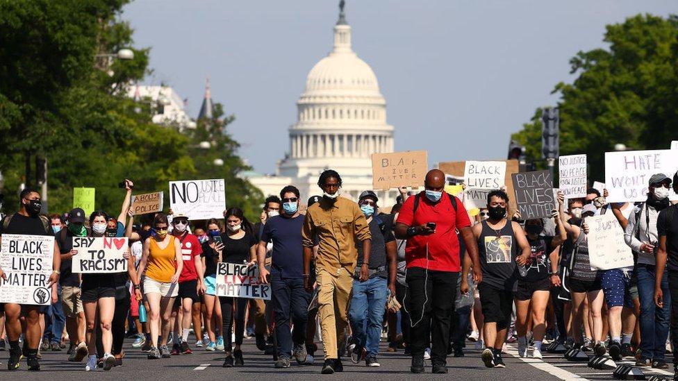 Manifestación por la muerte de George Floyd en Washington DC