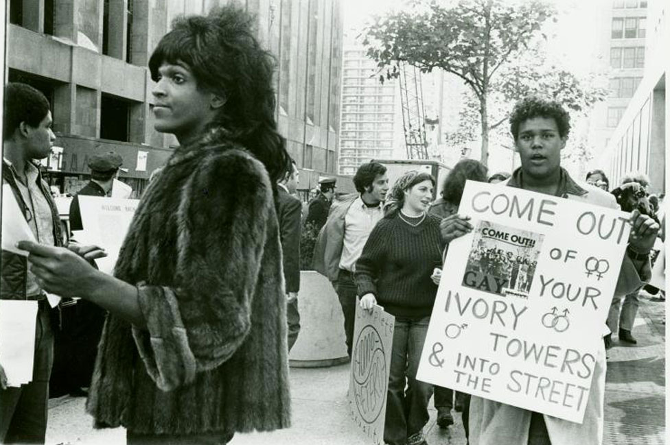 Marsha P Johnson en 1970