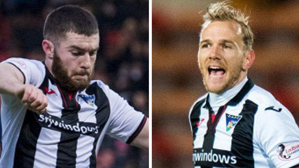Martin and Keena recalled by Hearts from Dunfermline