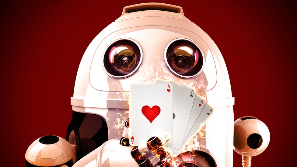 صورة توضيحية لروبوت يلعب البوكر