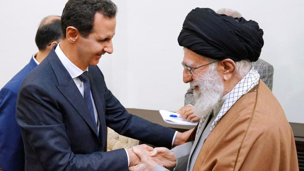 Al Assad y Jamenei