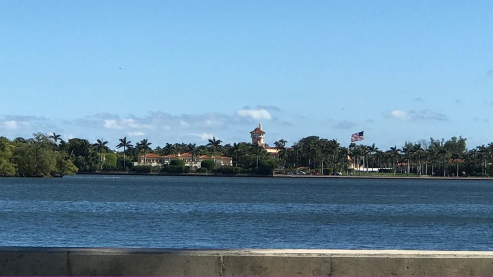 Mar-a-Lago a lo lejos, Palm Beach