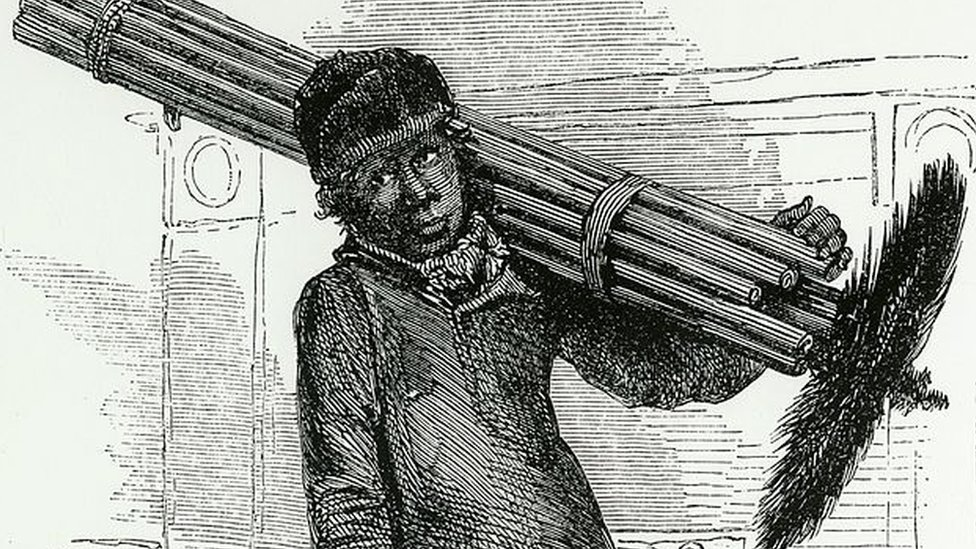 A London chimney sweep. From ''London Labour and the London Poor'', London, 1861.