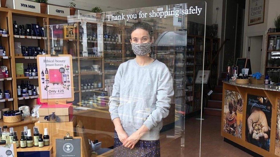 Kate Harahan, owner of Neal's Yard Remedies in Edinburgh's Hanover Street