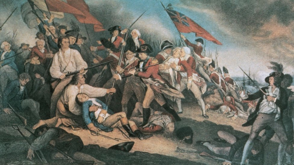 Cuadro de la Batalla de Bunker Hill, obra de John Trumbull