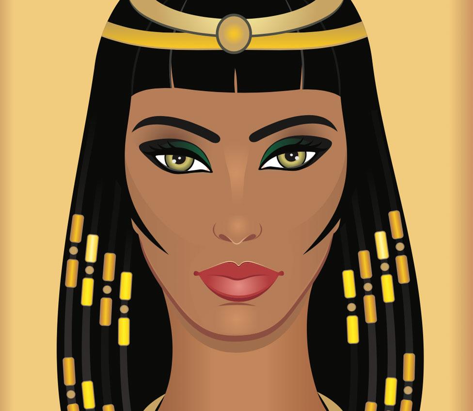 Dibujo que imagina a Cleopatra
