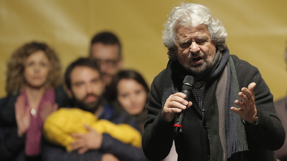 The leader of the Five Star Movement, Beppe Grillo
