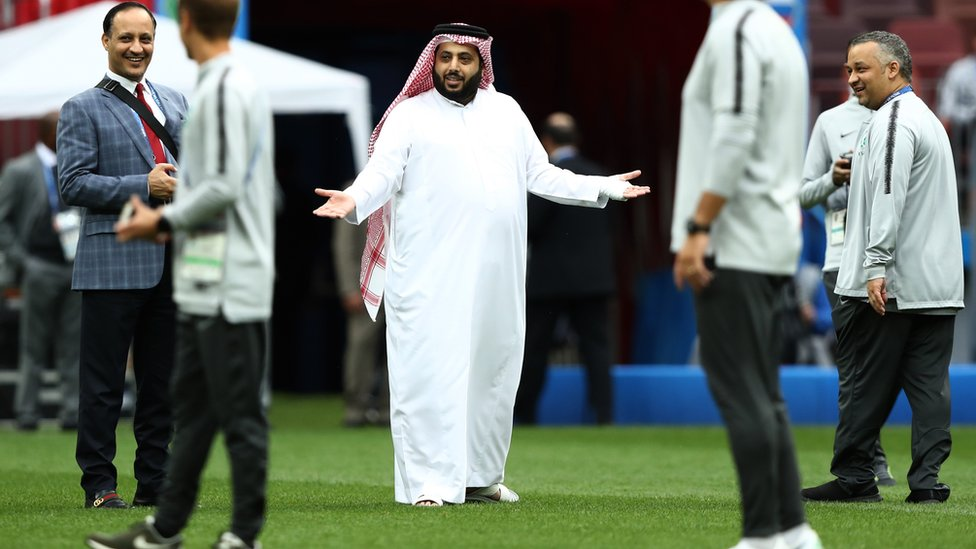رئيس مجلس إدارة الهيئة العامة للرياضة في المملكة العربية السعودية تركي آل الشيخ