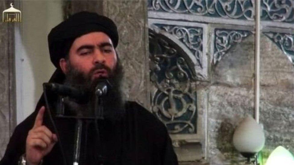 أبو بكر البغدادي زعيم تنظيم الدولة الإسلامية