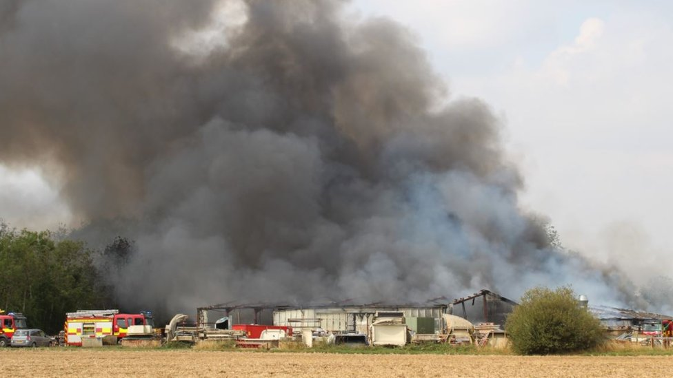Fire at industrial unit