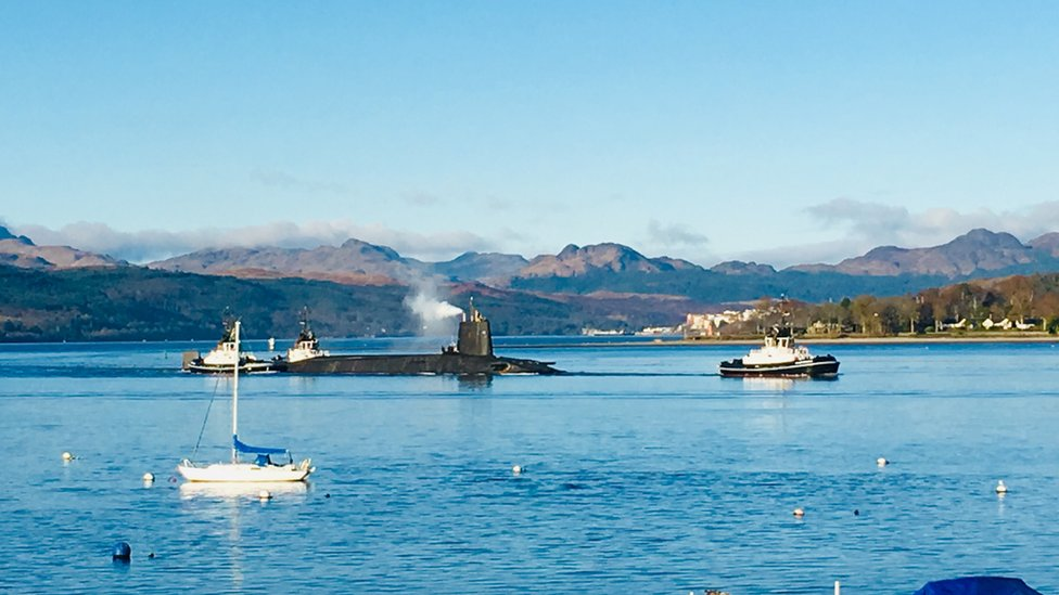 """Frances Findlay said: """"This was taken from our caravan at Rosneath looking up the Gareloch."""""""