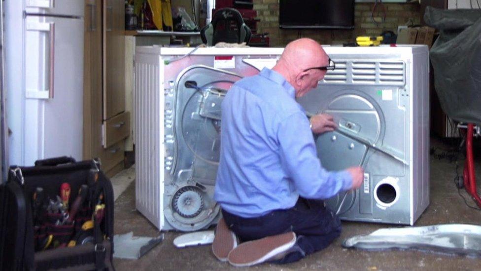 Engineer checks dryers