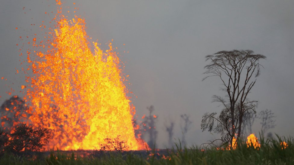 Hawaii volcano: Man hit by lava in first serious Kilauea injury