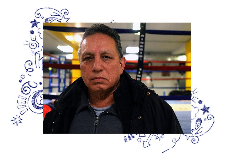 Raul in a boxing school