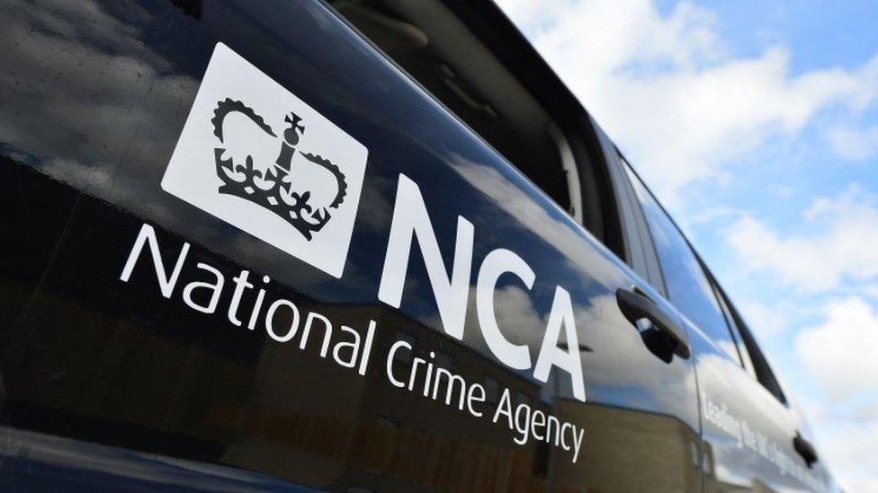 National Crime Agency van