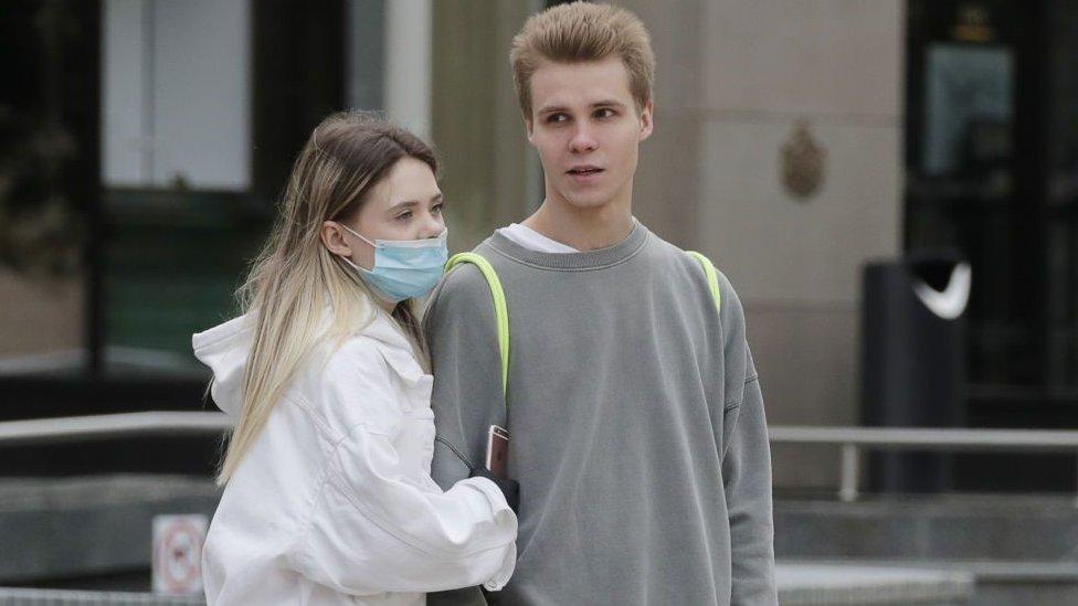 زوجان في موسكو