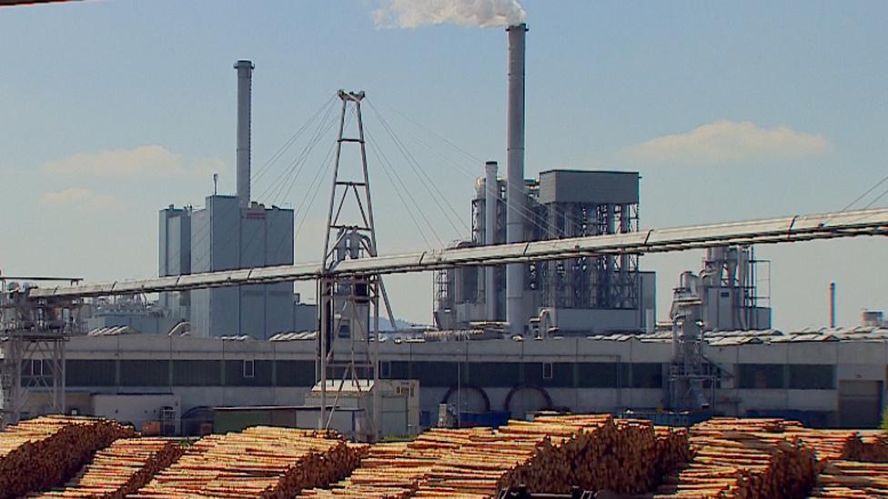 Wood processing plant in North Rhine-Westphalia