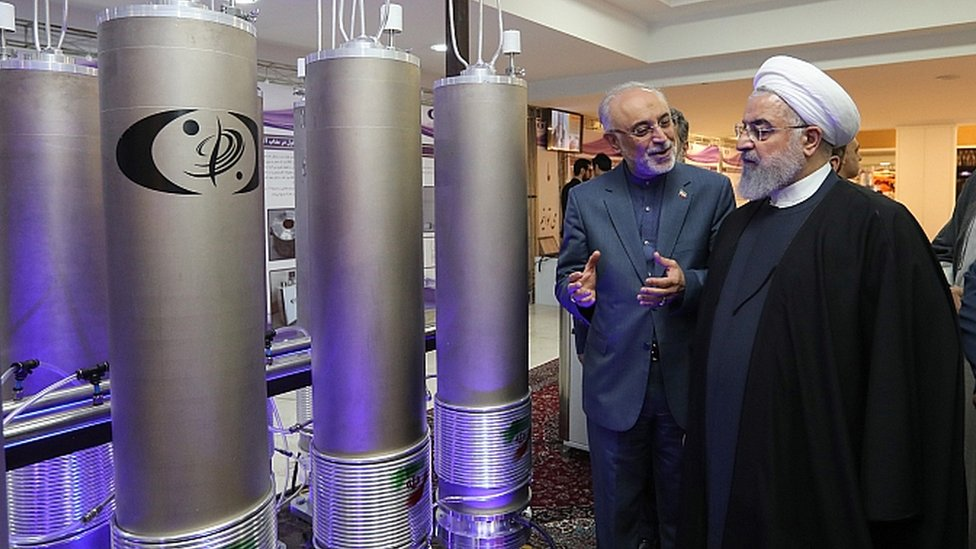 2019年4月9日,伊朗總統魯哈尼視察核項目