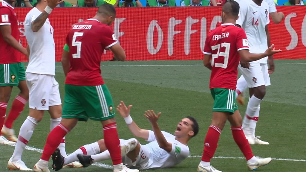 World Cup 2018: Rio Ferdinand brands Pepe's tumble against Morocco 'embarrassing'