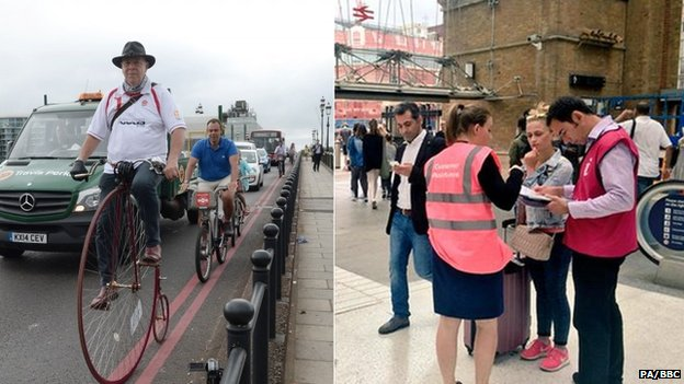 Penny farthing commuter and travel ambassadors
