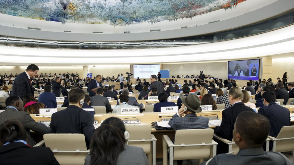 File photo of UN Human Rights Council in Geneva (6 March 2019)