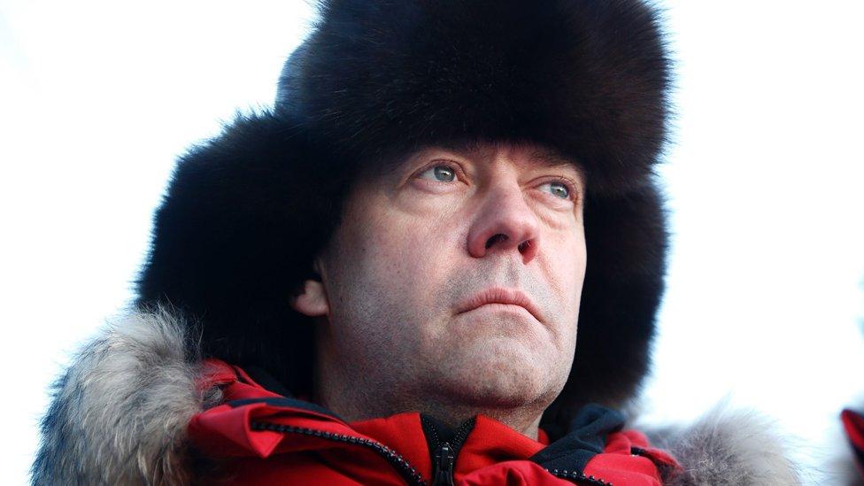 Russian Prime Minister Dmitry Medvedev in Arctic, 29 Mar 17