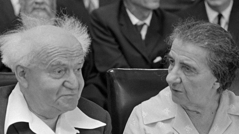 بن غوريون وغولدا مائير