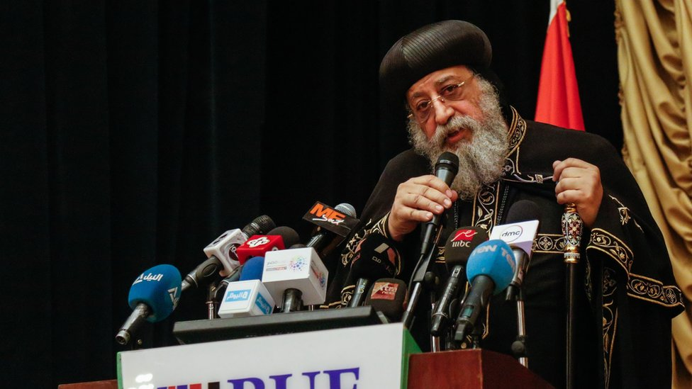 Pope Tawadros II at a speech