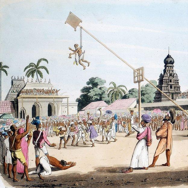 Ceremonia para apaciguar a la diosa de la viruela.
