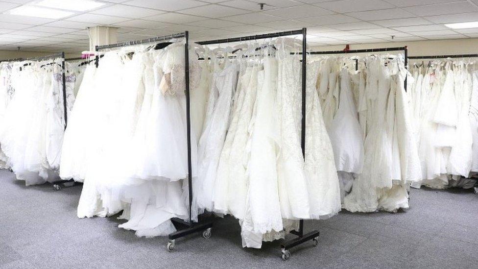 Berketex collapse: More than 20,000 wedding dresses on sale