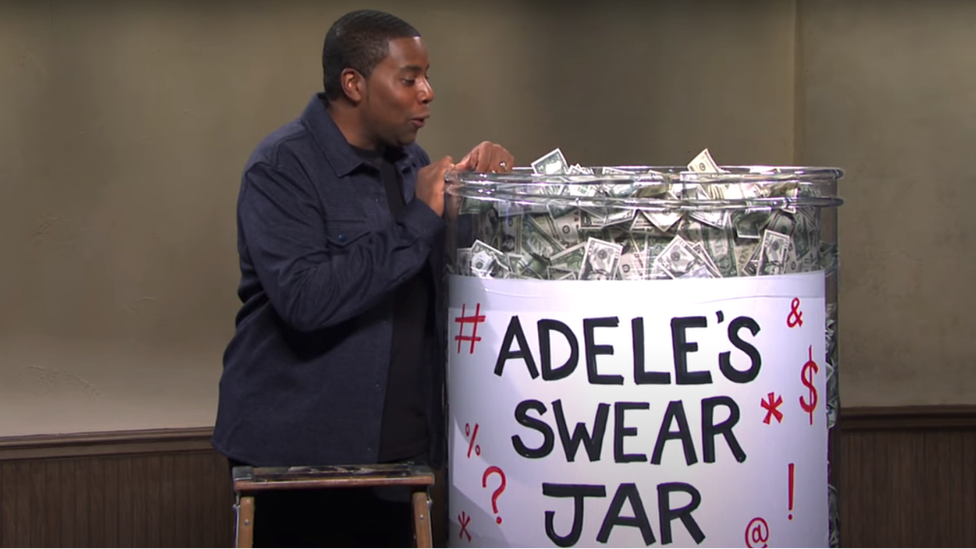 Adele's swear jar