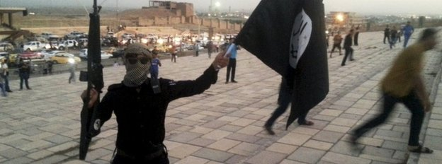 IS militant in Mosul, 2014