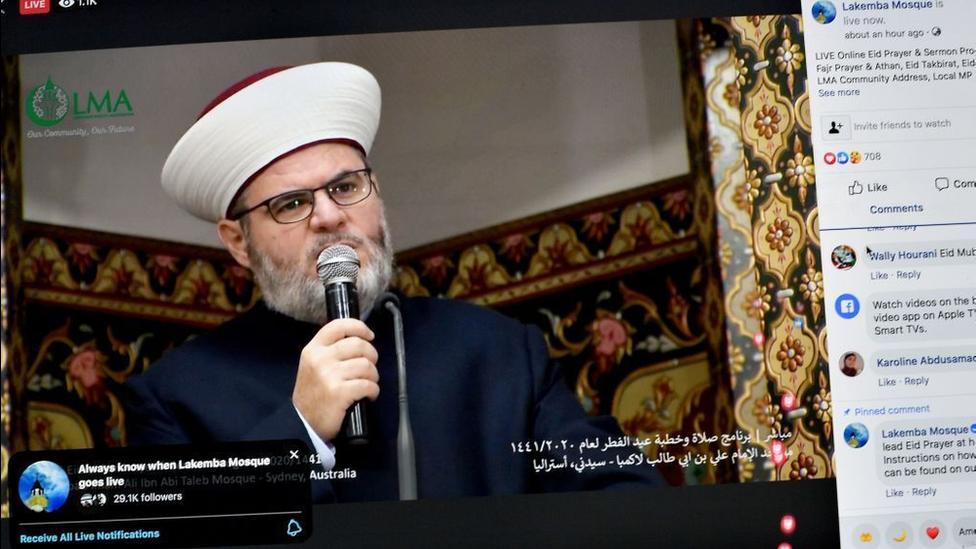 الشيخ يحيى صافي إمام مسجد لاكامبا في أستراليا