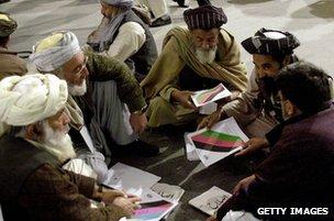Delegates at Loya Jirga, 2004