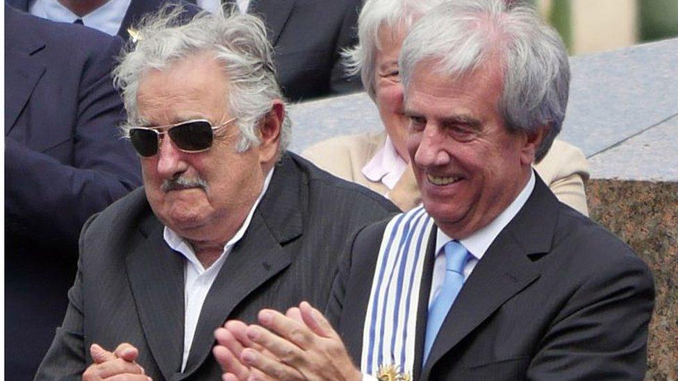 José Mujica y Tabaré Vázquez