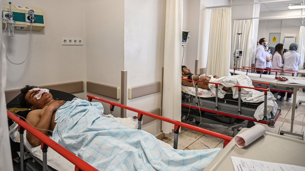 Several people were being treated in Trakya University Hospital after the border incident