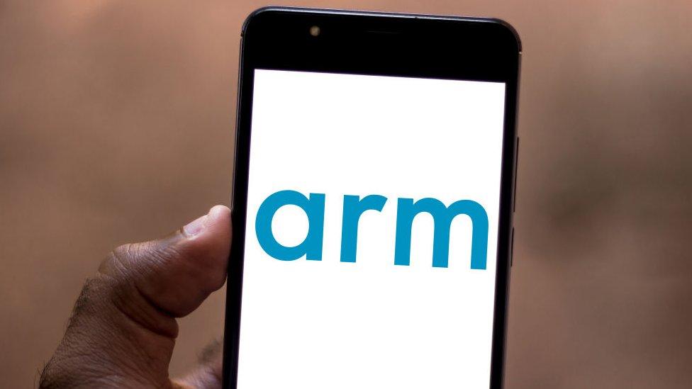 ARM logo on phone