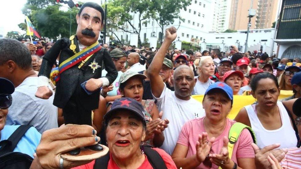 Simpatizantes de Maduro.