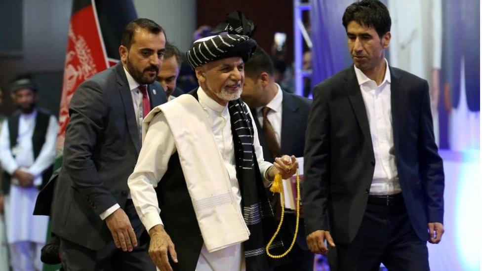 President Ashraf Ghani at an election rally on 13 September 2019