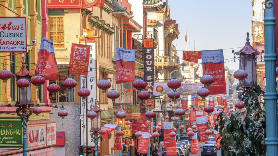 Chinatown en San Francisco, California.