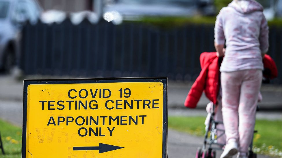 Testing centre sign