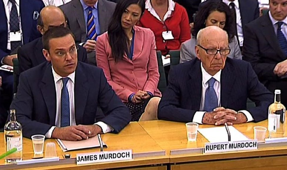 In 2011, the then News Corp Chief Executive and Chairman Rupert Murdoch and son James Murdoch appeared before a parliamentary committee on phone hacking