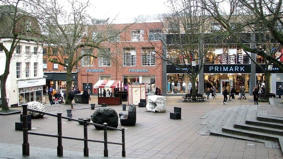 The Haymarket in Norwich