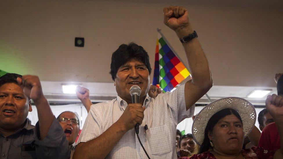 Evo Morales el domingo